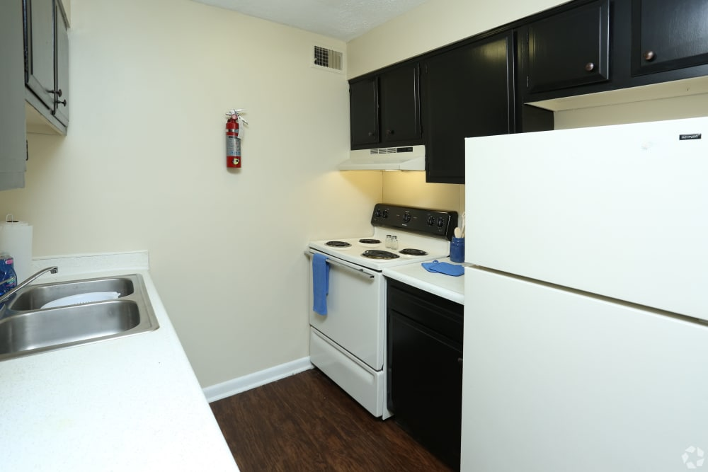 Fully Equipped kitchen at King Solomon Apartments in Jeffersonville, Indiana