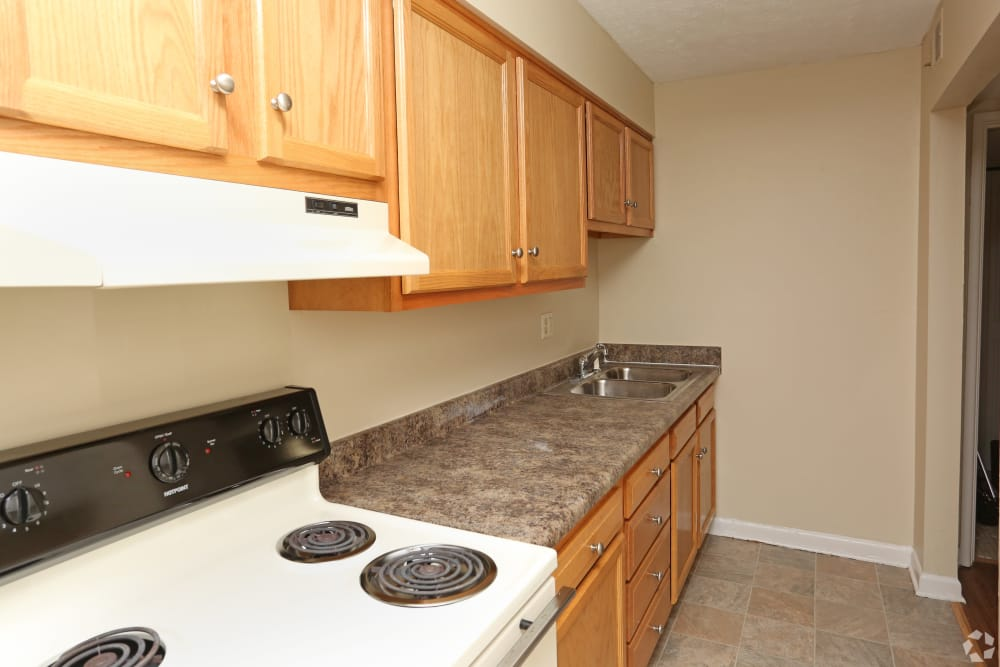 King Solomon Apartments offers a kitchen in Jeffersonville, Indiana