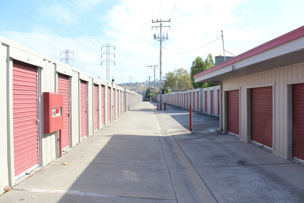 The exterior of our self storage units in San Leandro, CA