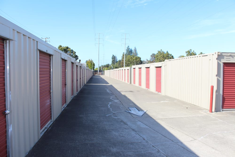 A view of our self storage units in San Leandro, CA