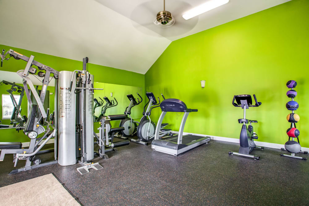 Renovated fitness center at Grand Biscayne in Biloxi, Mississippi