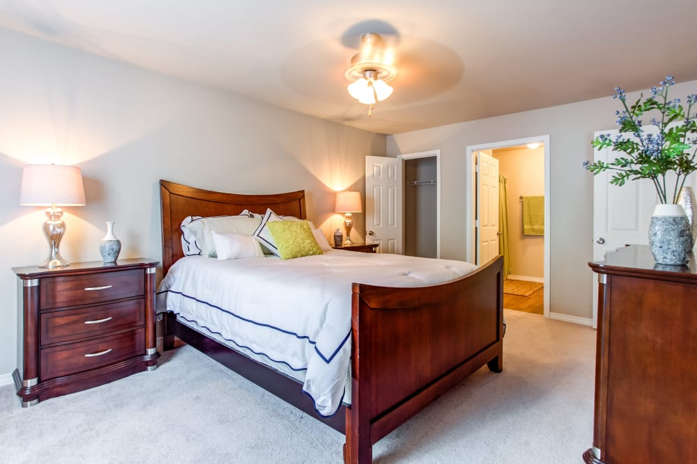 Spacious bedroom at apartments at Grand Biscayne in Biloxi, Mississippi