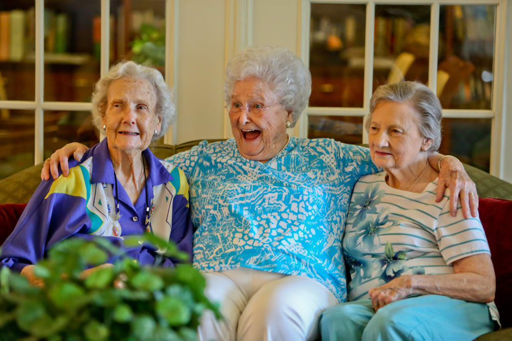 Residents at Azalea Estates of Gonzales hanging out