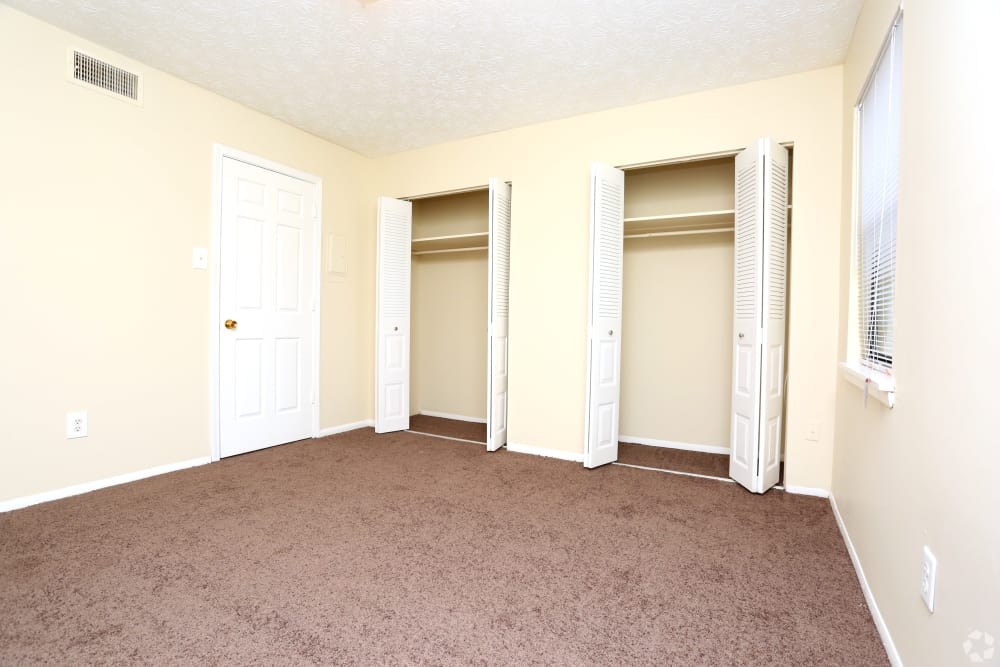 Spacious closets at apartments in Lexington, Kentucky