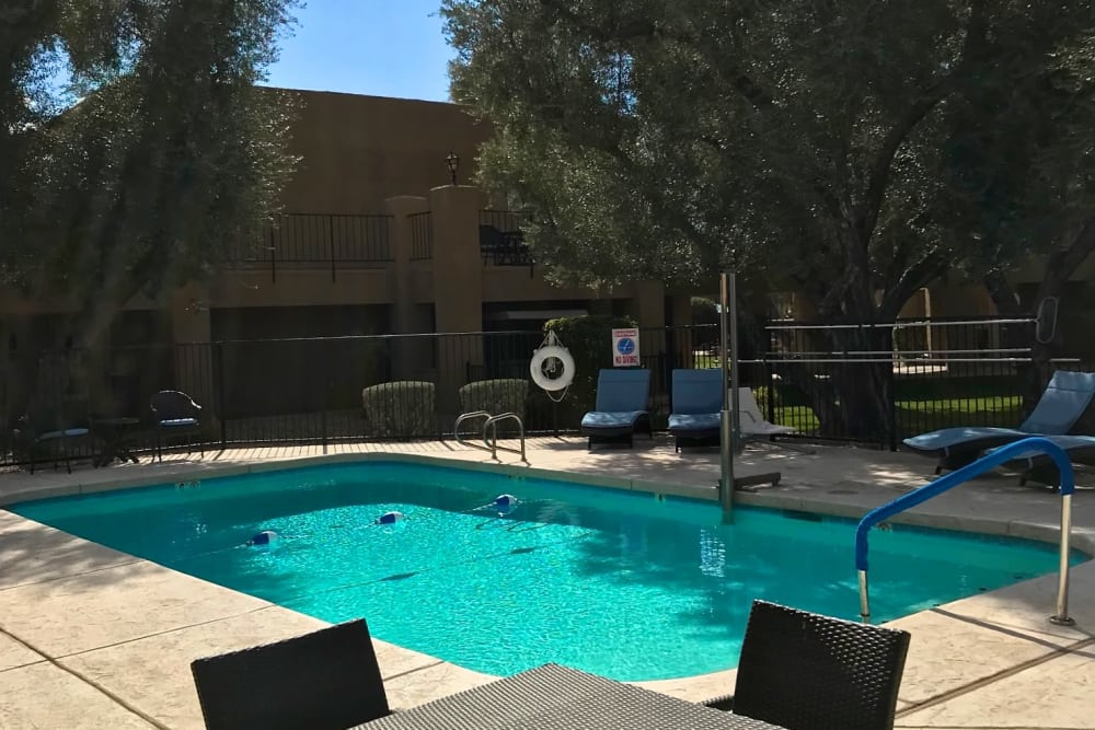 Pool room at Scottsdale Village Square, A Pacifica Senior Living Community