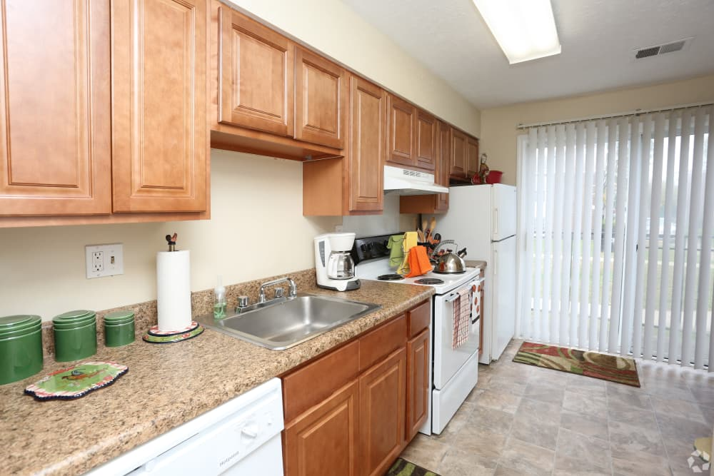 Beautiful kitchen at King George Apartments in Louisville, Kentucky