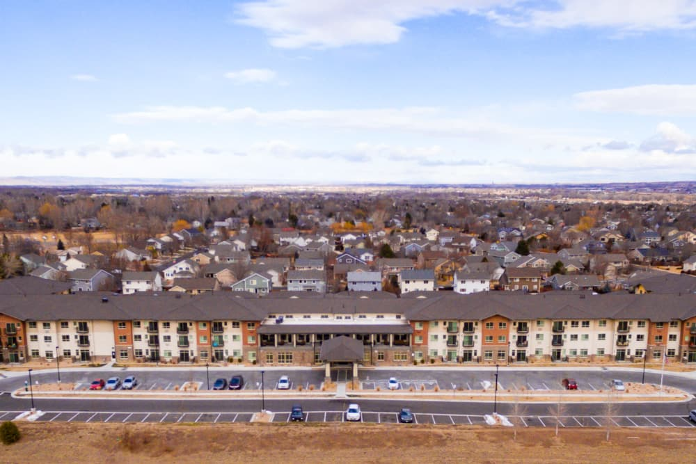 Aerial view of Affinity at Fort Collins