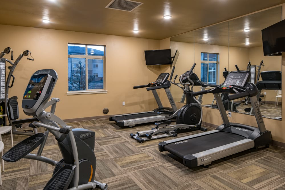 Fitness room at Affinity at Fort Collins