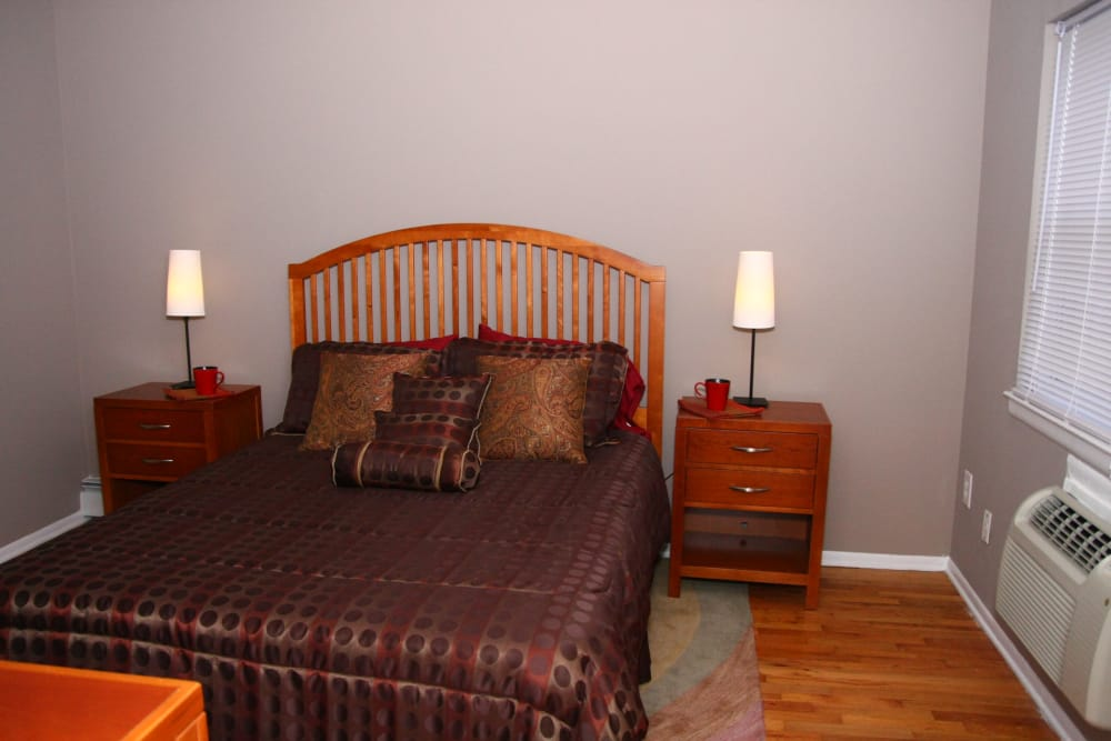 Master bedroom layout at Center Grove Village