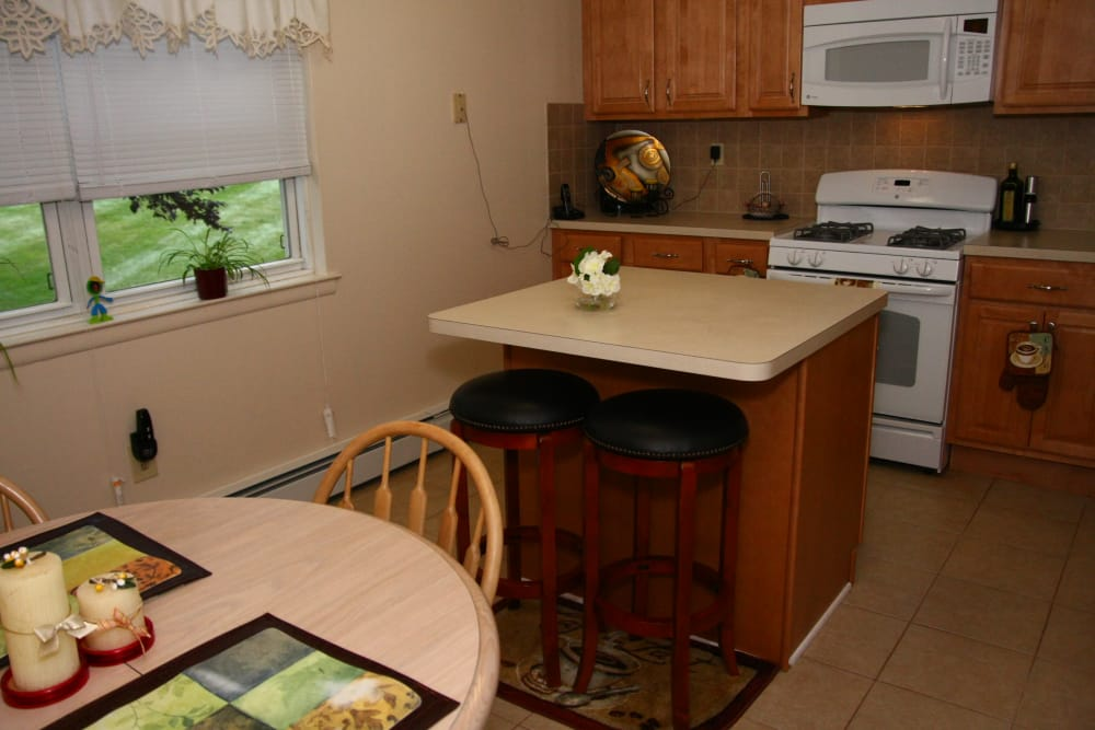 A view of the kitchen layout at Center Grove Village