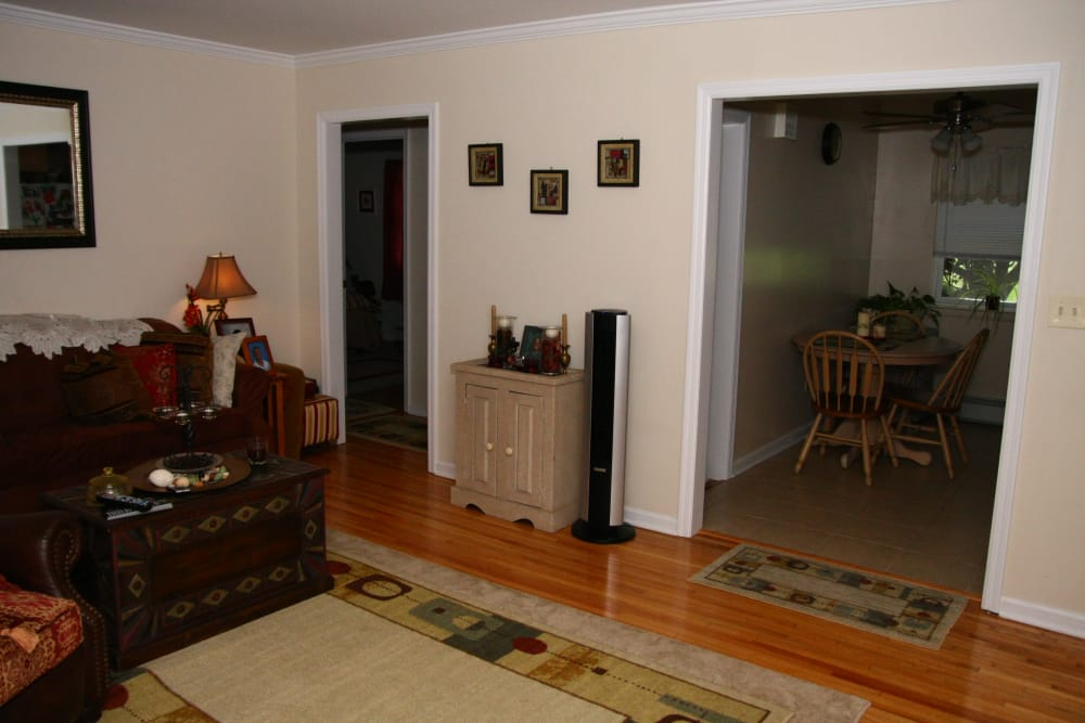 Hardwood flooring at Center Grove Village