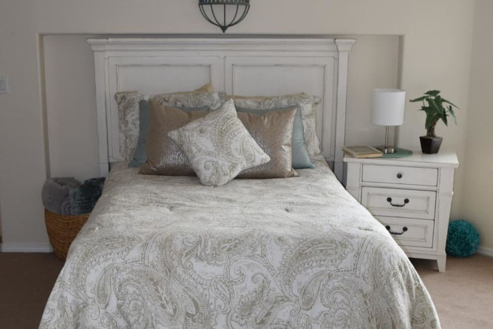 comfortable resident bedroom