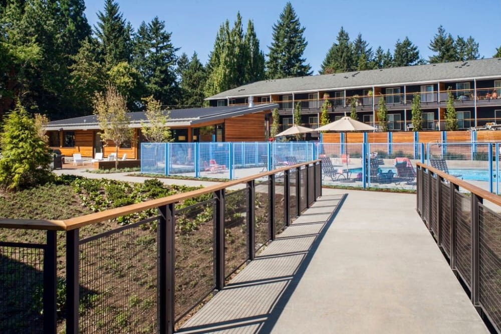 Cedar Hills Apartments offers a great for entertaining swimming pool in Portland, Oregon