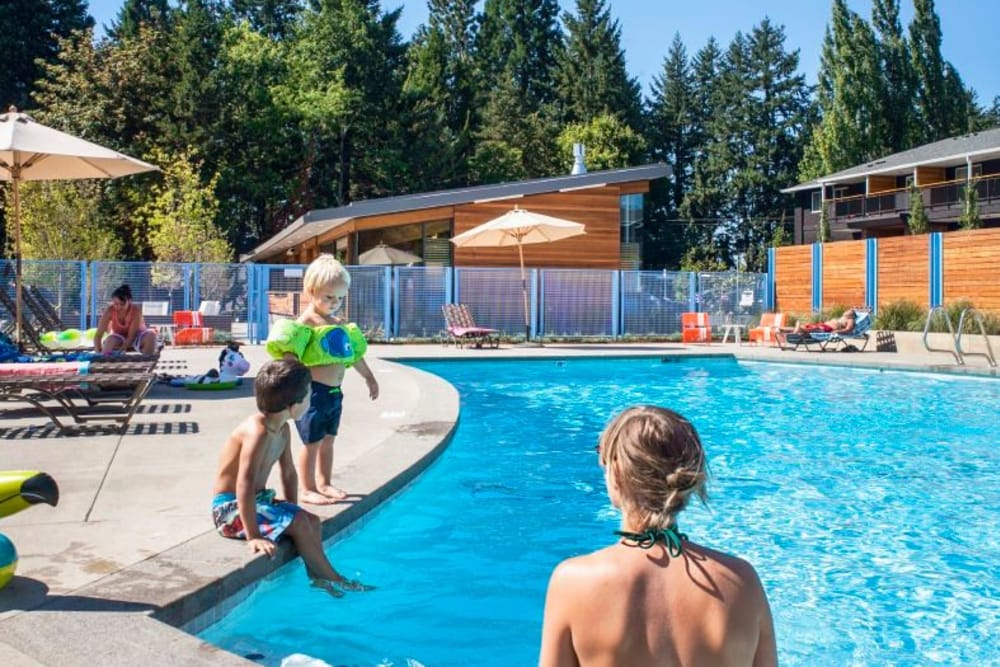 Cedar Hills Apartments offers a spacious swimming pool in Portland, OR