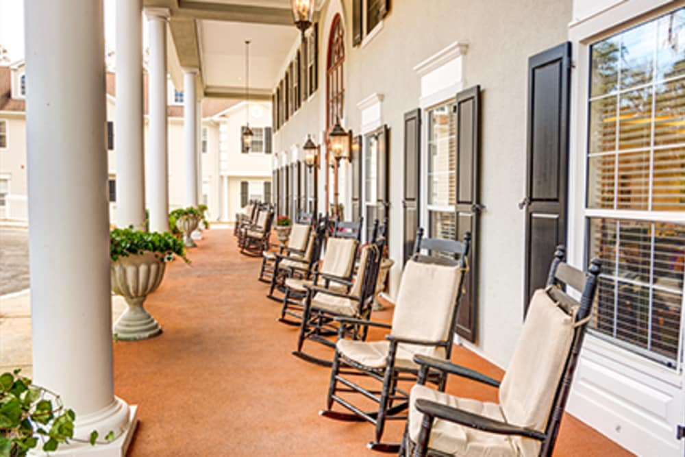 Porch at St. Augustine Plantation in Tallahassee, Florida