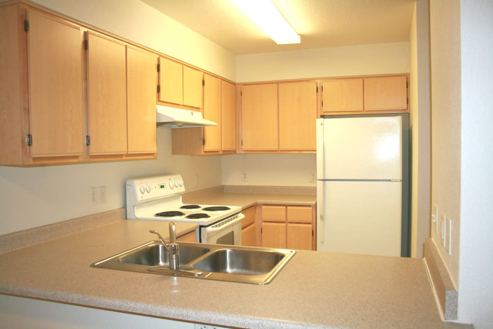 Our apartments in Eugene, Oregon have a kitchen that's great for entertaining
