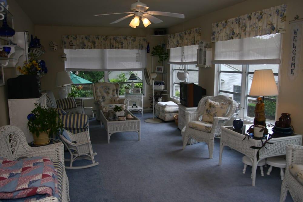 Tv room model at Brandywyne East II in Brielle, New Jersey