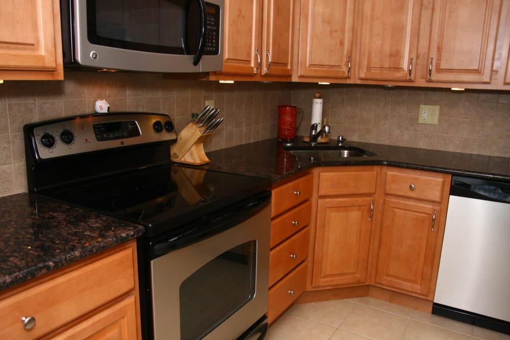 Luxury kitchen at Brandywyne East II in Brielle, New Jersey