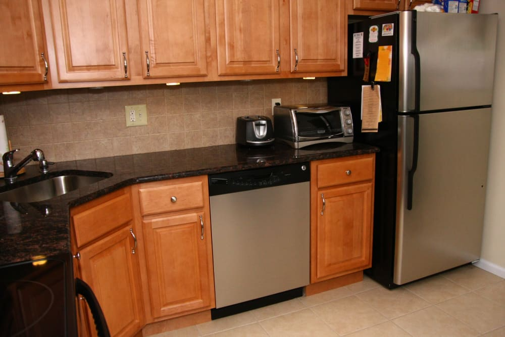 Luxury kitchen at apartments in Brielle, New Jersey