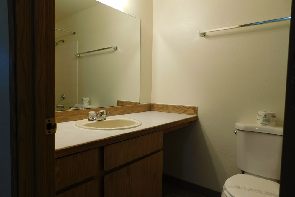 Unique bathroom at Forest Ridge in Aloha, Oregon