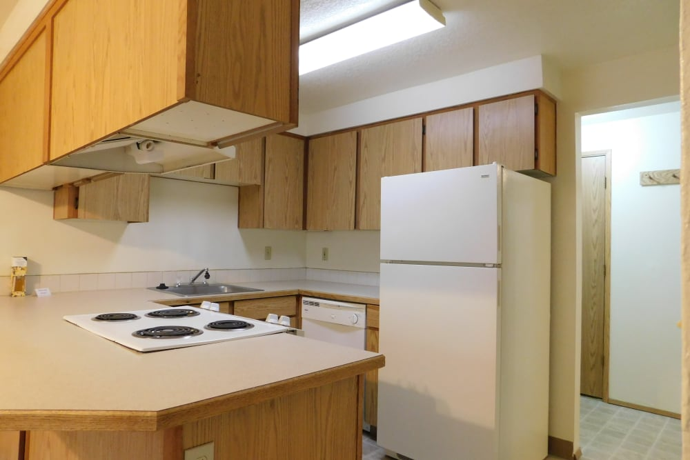Furnished kitchen at Forest Ridge in Aloha, Oregon
