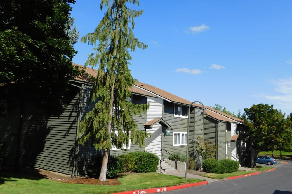 Exterior view of our apartments at Forest Ridge in Aloha, Oregon