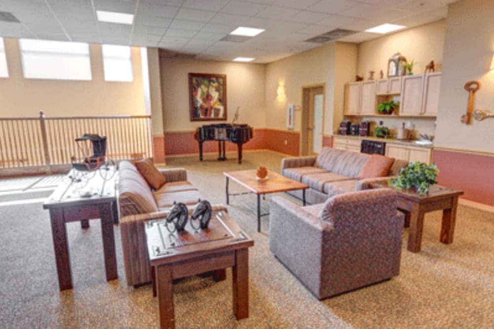 Resident lounge at Brentwood at Fore Ranch in Ocala, Florida.