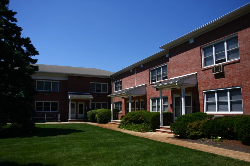 The grounds at Waterway Court Apartments in Point Pleasant are nicely manicured.
