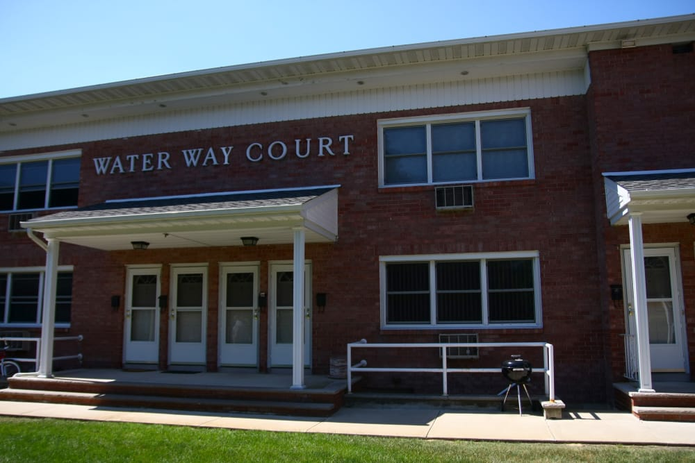 Exterior of Waterway Court Apartments in Point Pleasant, New Jersey
