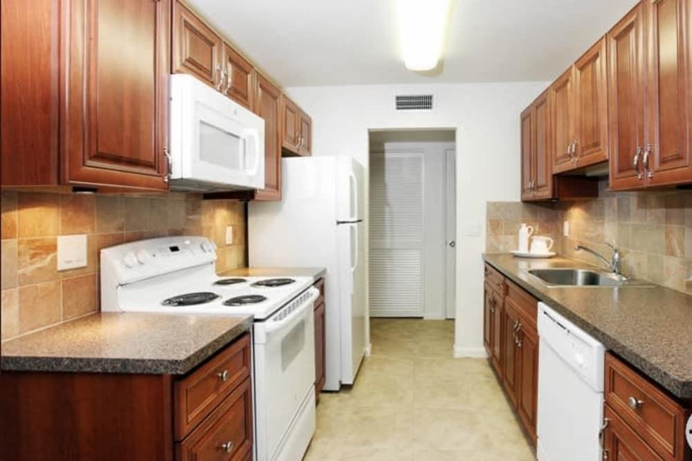 Beautiful kitchen at Lime Tree Village in Deerfield Beach, FL