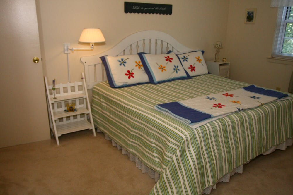 Modern and comfortable bedroom at Brinley Manor in Bradley Beach