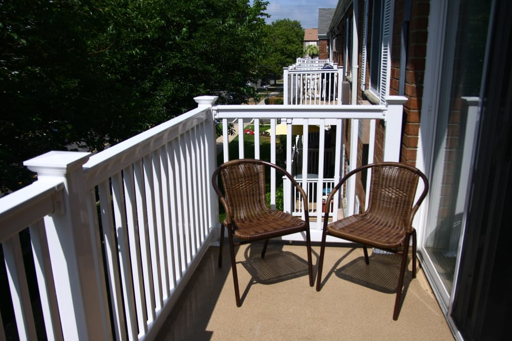 View of the balcony at Brinley Manor