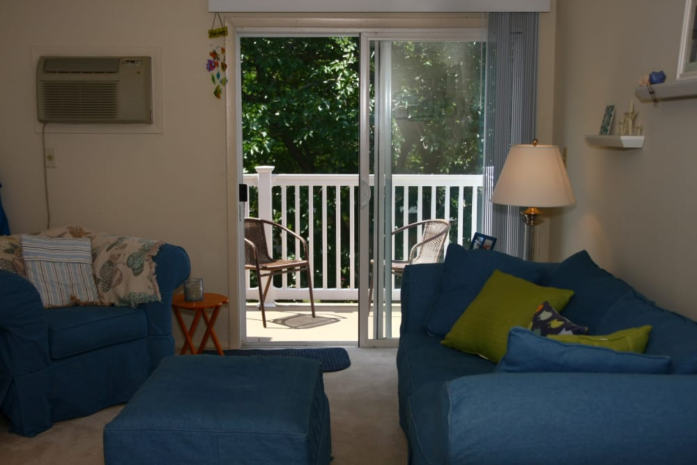 Private balcony at our cozy apartments in Bradley Beach