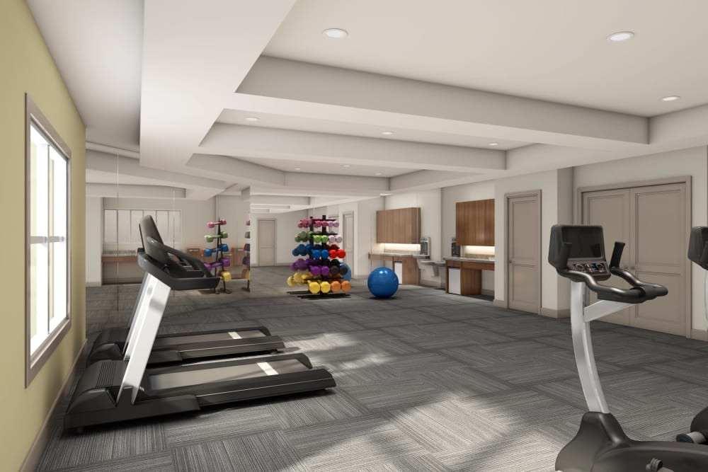 fitness center at Discovery Village At Sandhill