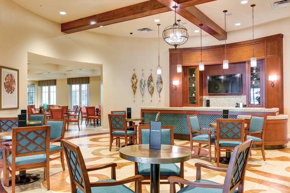 Resident dining area at Symphony at Stuart in Stuart, Florida.