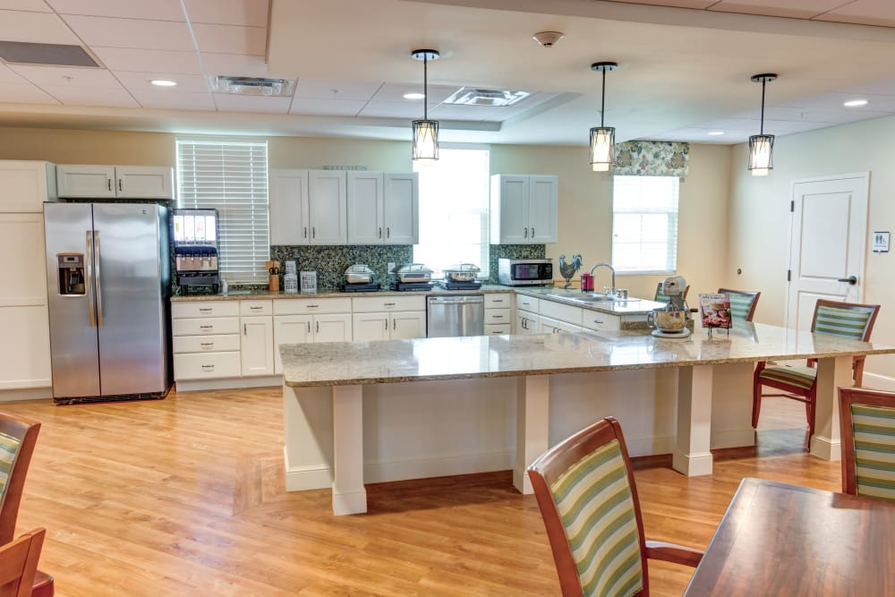 Model kitchen at Symphony at Stuart in Stuart, Florida