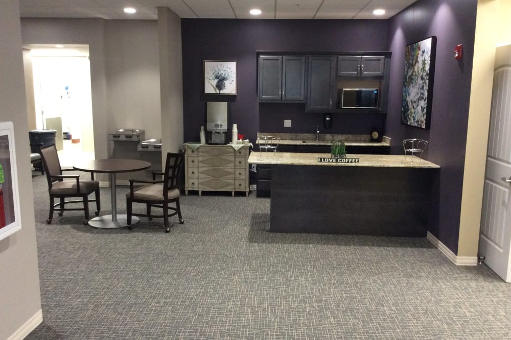 Coffee bar and cafe at Serenity in East Peoria, Illinois
