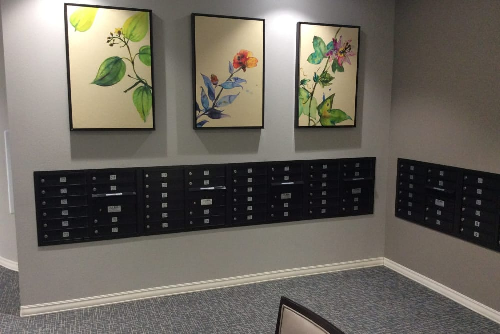 Resident mail boxes at Serenity in East Peoria, Illinois