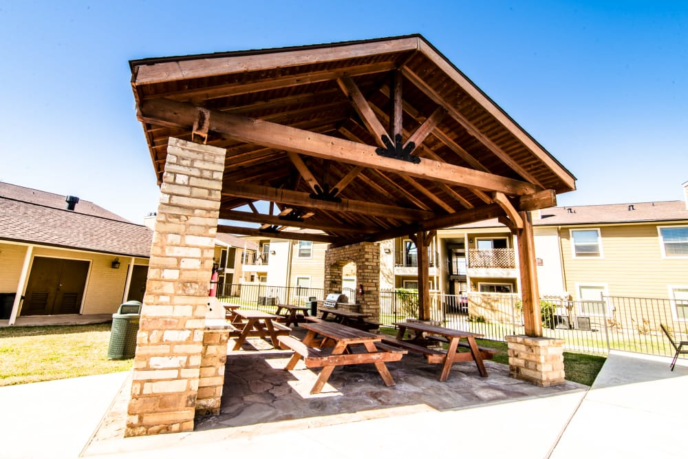 Covered grill at Cedar Ridge Apartments
