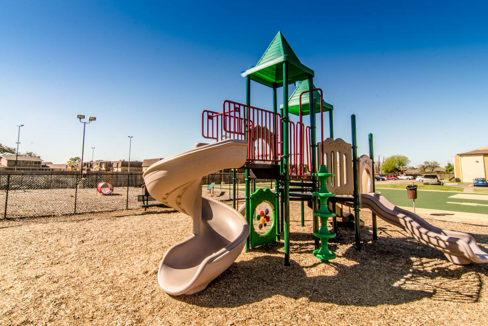 Our apartments in Baytown, Texas showcase a beautiful playground