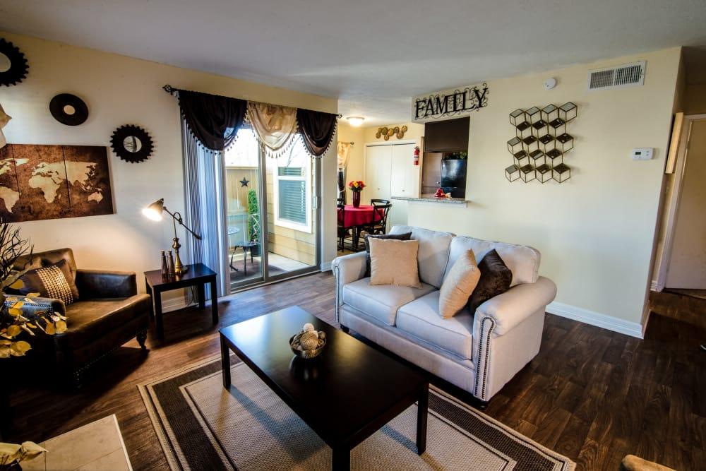 Living room at Cedar Ridge Apartments