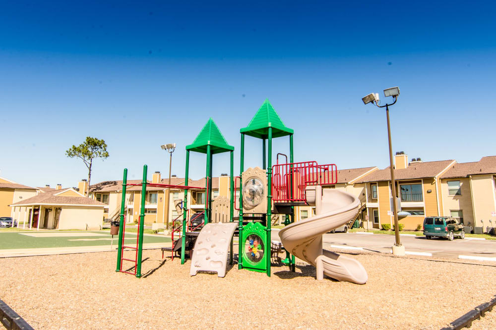Spacious playground at Cedar Ridge Apartments in Baytown, Texas