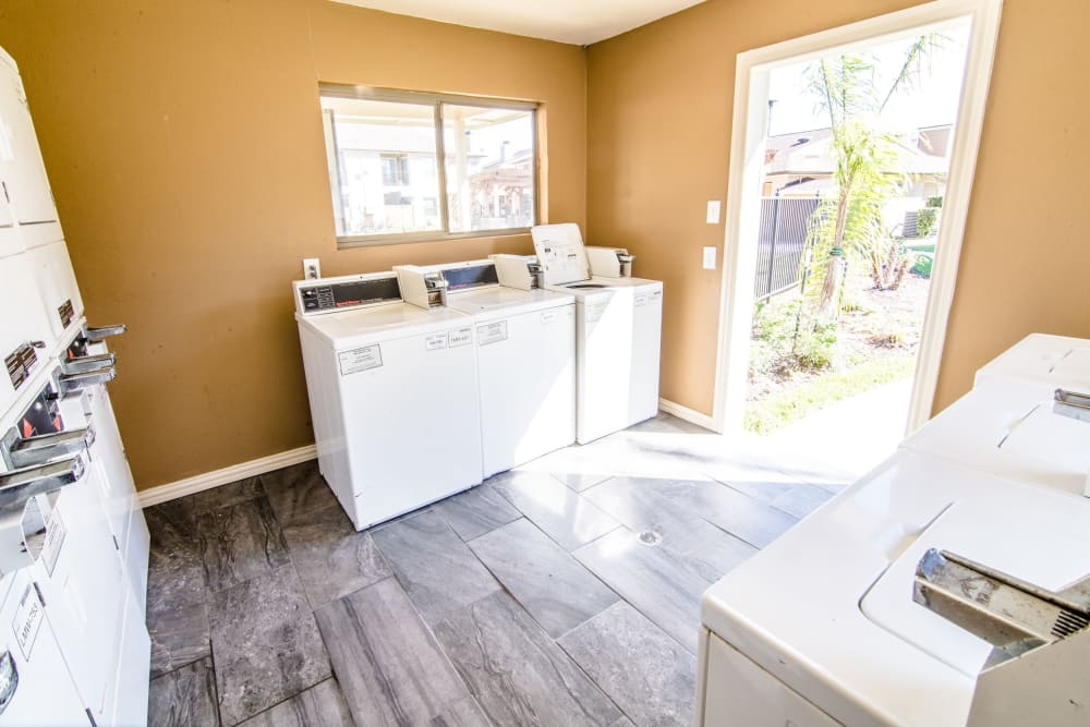 Fully equipped laundry facility at Cedar Ridge Apartments