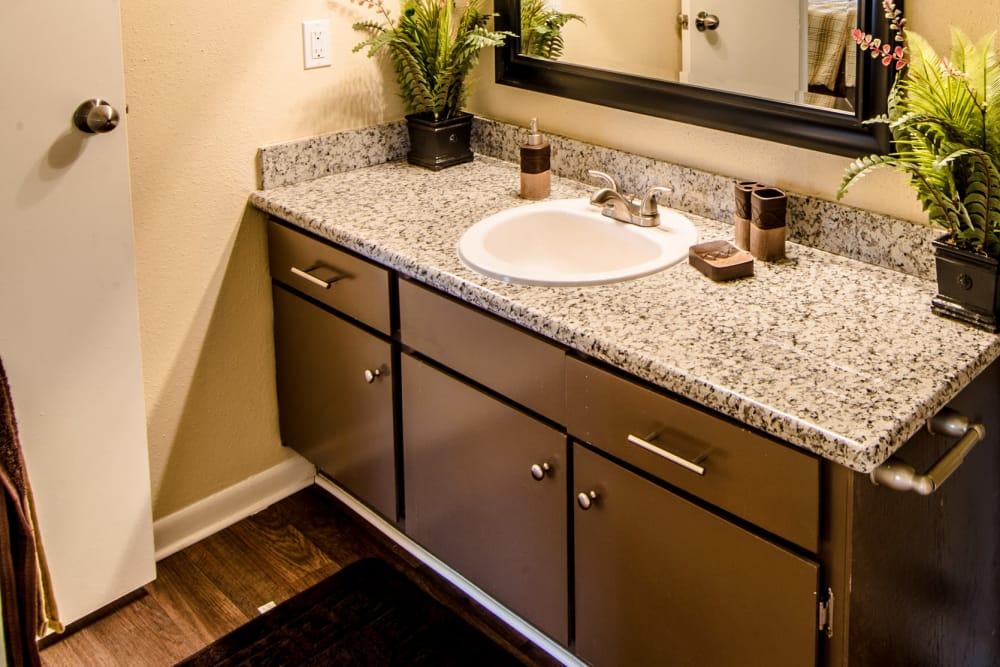 Bathroom vanity at Cedar Ridge Apartments