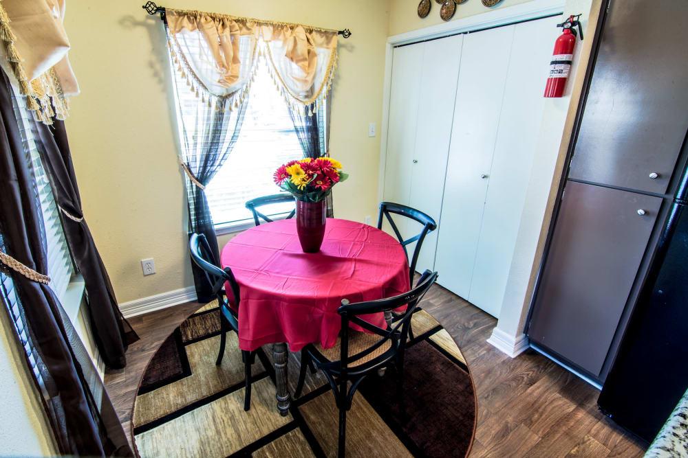 Dining room at Cedar Ridge Apartments in Baytown, TX