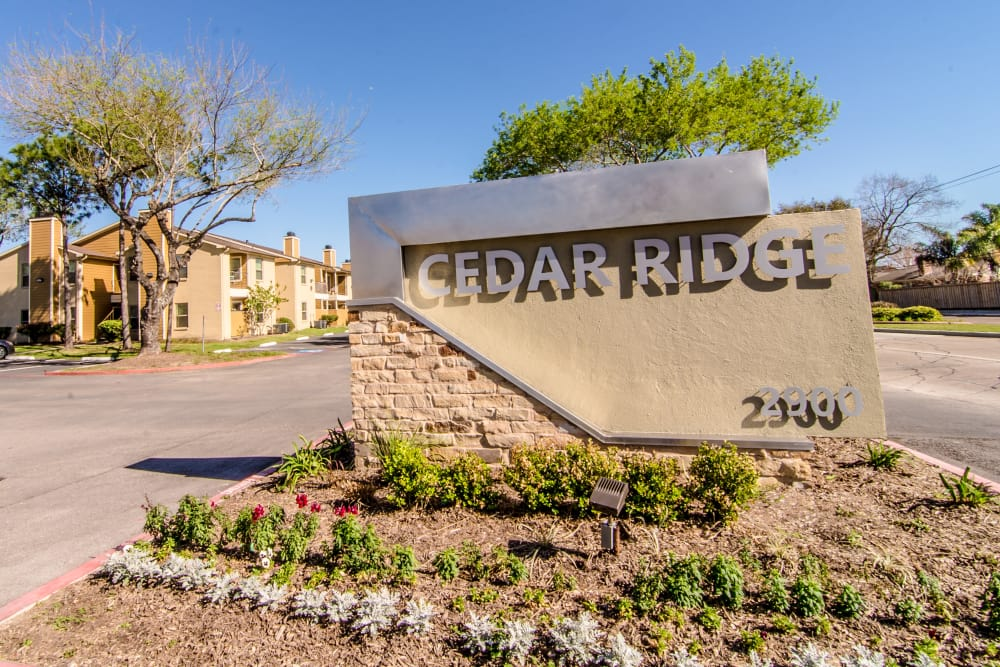 Cedar Ridge Apartments monument sign