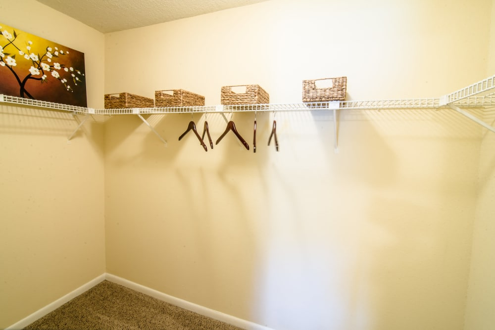 Spacious walk-in closets at apartments in Baytown, Texas