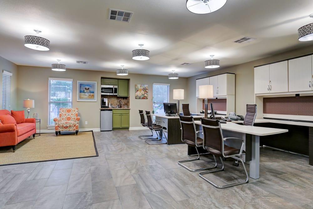 Leasing center at Cedar Ridge Apartments