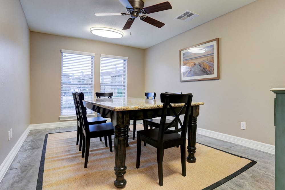 Office table at Cedar Ridge Apartments