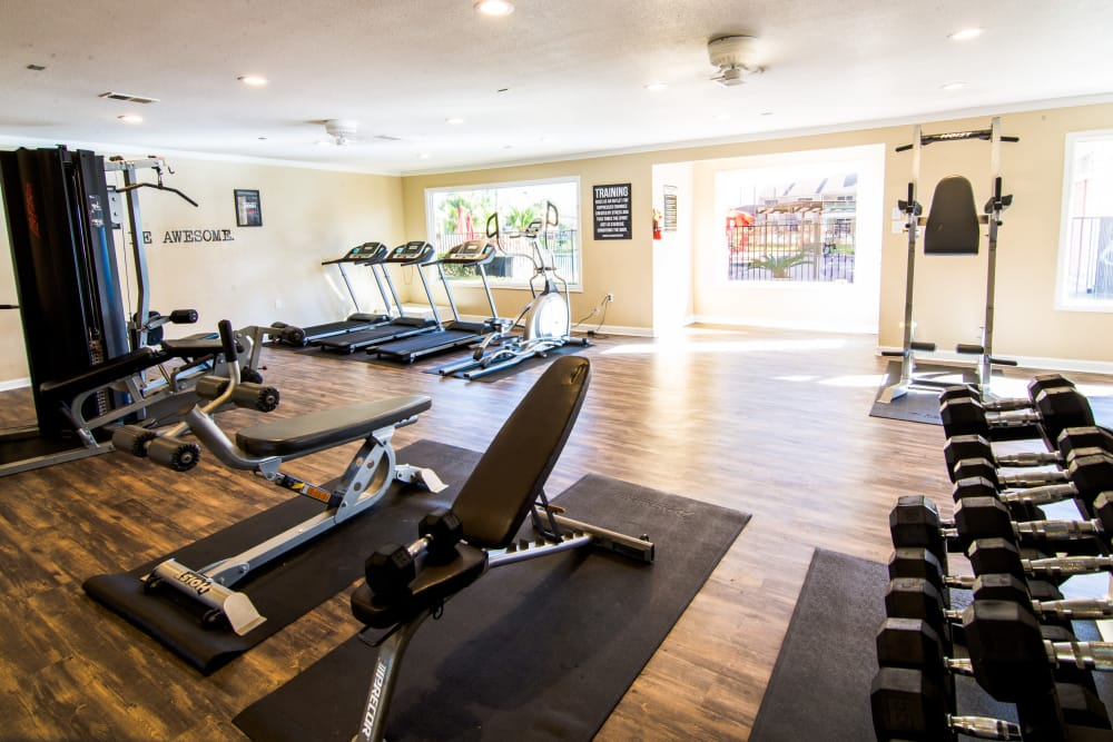 Resident fitness center at Reserve on Garth Rd